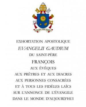 Exhortation apostolique du pape François : « La joie de l'Évangile »