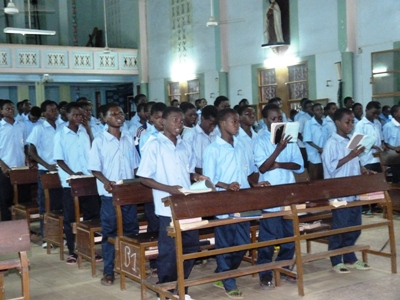 clôture du mois de rosaire au petit séminaire de Pabré