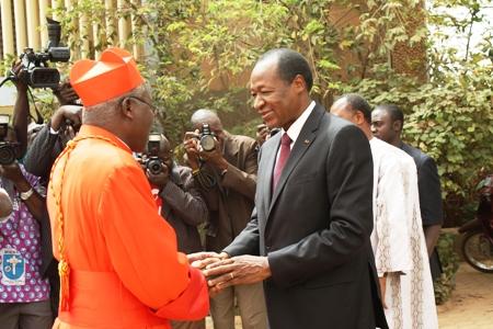Le Président du Faso à l'archevêché