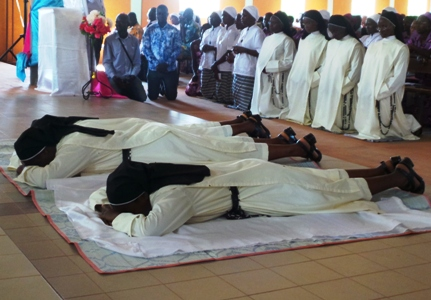 Vœux chez les sœurs de Charité Dominicaines de la Présentation de la Sainte Vierge.
