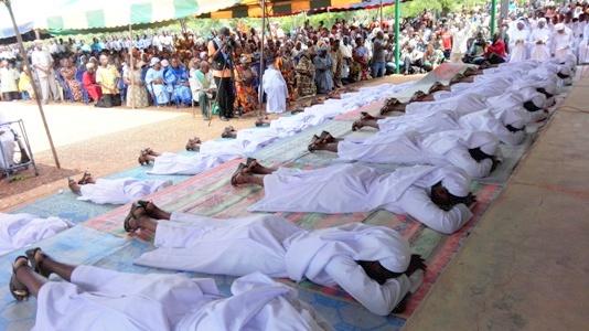 Célébration des vœux perpétuels chez les Sœurs de l'Immaculée conception de Ouagadougou