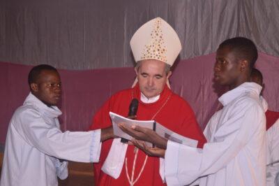 Mgr le Nonce Apostolique à ouverture du synode à Kaya
