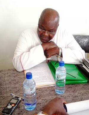 Mgr Paul Ouédraogo, pour son mot de bienvenue