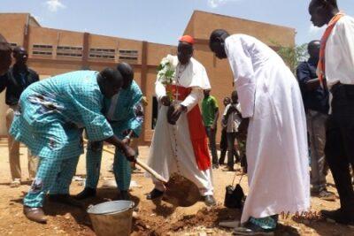 Plantation d'arbre pour perpétuer la mémoire de l'évènement