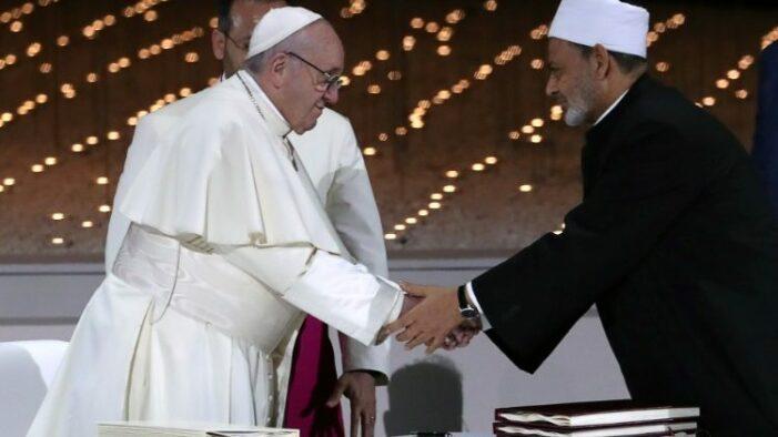 Message du Pape, un an après la signature du Document sur la fraternité humaine